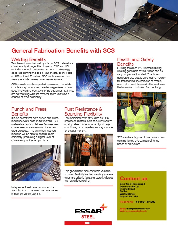 manufacturing benefits of scs2